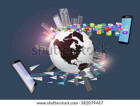 globalization and technology Technology and globalization introduction in nearly every corner of the world, from mumbai to madrid, one cannot enter a café or walk down the street without seeing someone talking, texting.