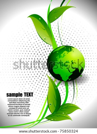 Globe and the internet communication on its surface, high-speed and technology. Vector Illustration