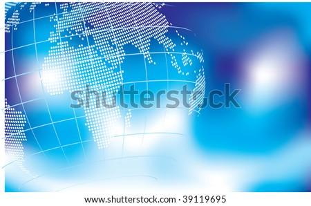 globe background - stock vector