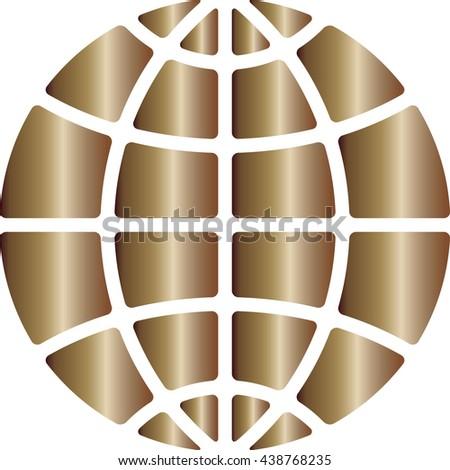 Globe ball vector - stock vector