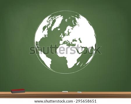 Globe Chalkboard Vector Illustration - stock vector