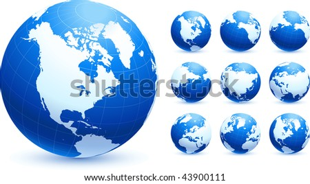 Globe collection Original Vector Illustration Globes and Maps Ideal for Business Concepts - stock vector