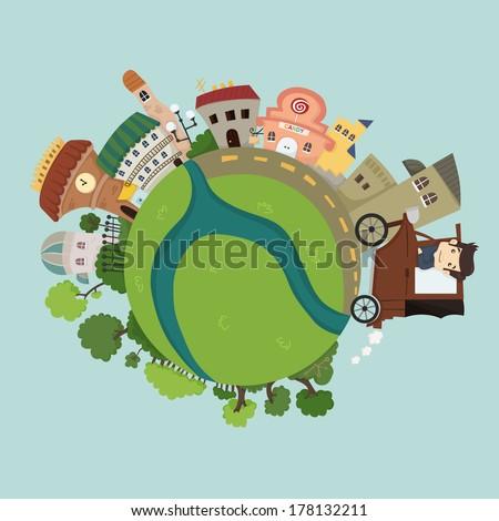 Globe concept  , eps10 vector format - stock vector