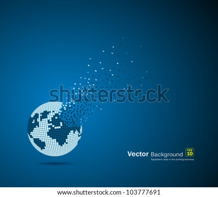 Globe design, vector illustration - stock vector