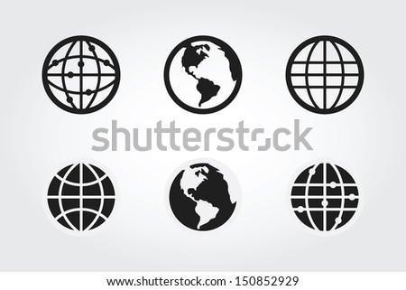 Globe earth - stock vector