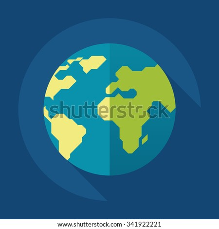 Earth, Globalization & Connections Flat Icon Stock Vector ...   Earth Flat Icon Eps