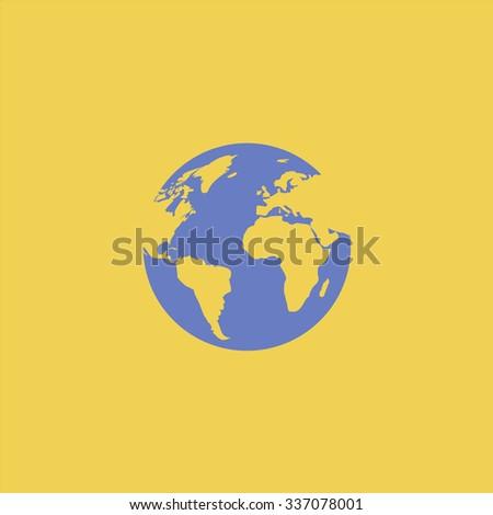 Globe earth. Icon Vector. Icon Picture. Icon Graphic. Icon Art. Icon JPG. Icon JPEG. Icon EPS. Icon AI. Icon FLAT. Icon SIMPLE - stock vector