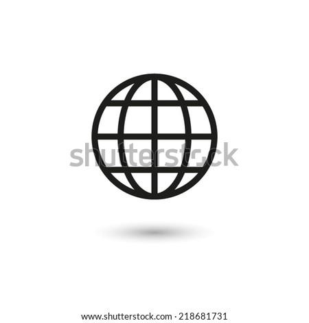 Globe earth - vector icon - stock vector