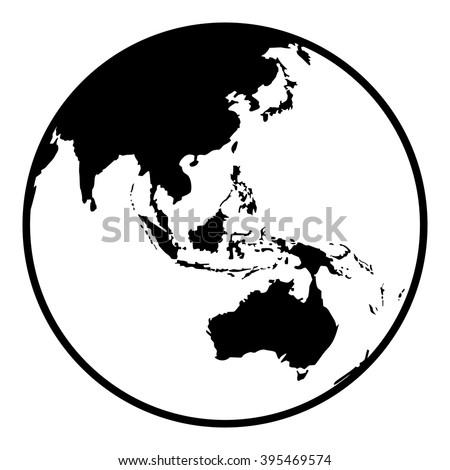 Globe Earth Vector Icon. Earth Planet Globe Web And Mobile Icon In Flat  Design.