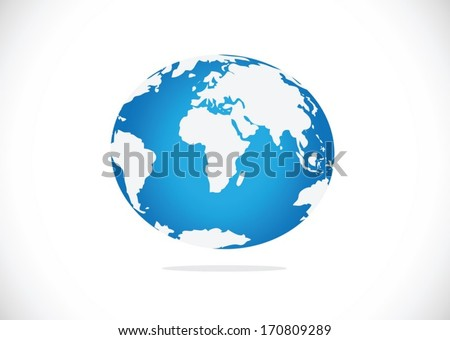 Globe earth vector icons themes idea design