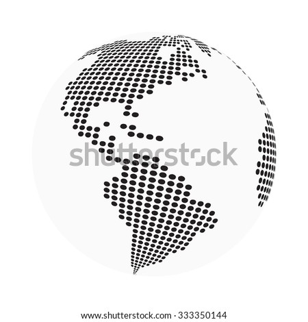 Globe earth world map abstract dotted vector de stock333350144 globe earth world map abstract dotted vector background black and white silhouette illustration gumiabroncs Images
