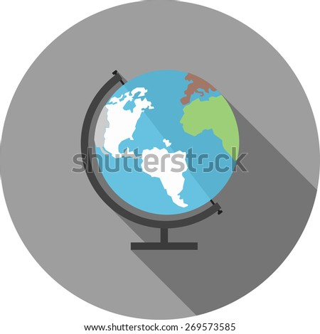 Globe, earth, world, map icon vector image. Can also be used for communication, connection, technology. Suitable for web apps, mobile apps and print media.