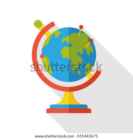 Globe flat icon - stock vector