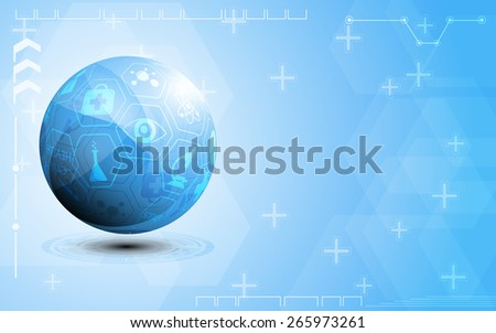 globe health care and science icon concept abstract background