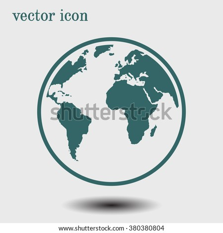 Globe icon stock vector 380380804 shutterstock globe icon gumiabroncs Gallery