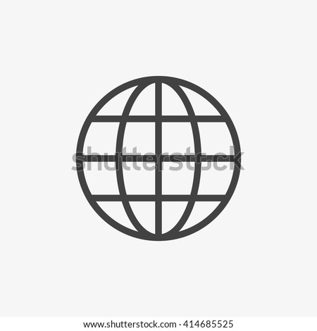 Globe Icon in trendy flat style isolated on grey background. World globe symbol for your web site design, logo, app, UI. Vector illustration, EPS10. - stock vector