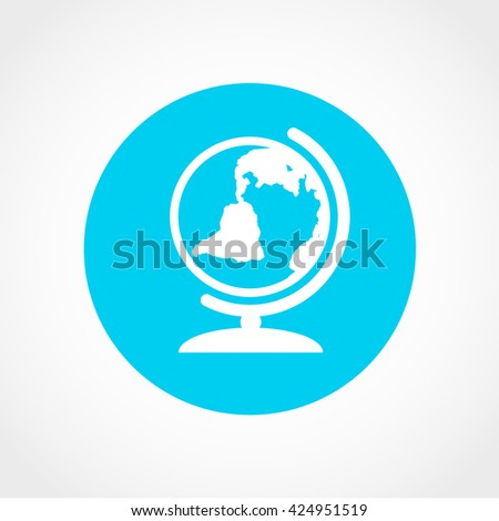 globe Icon Isolated on White Background