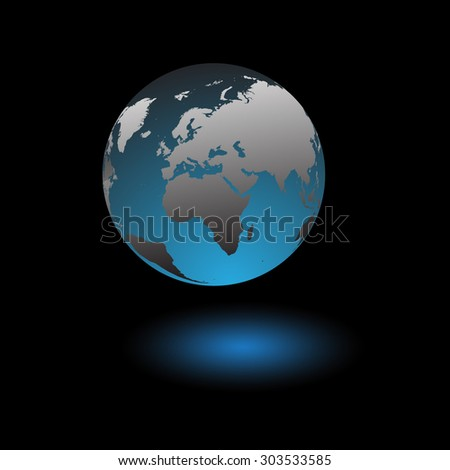 Globe icon of planet earth over space background vector illustration