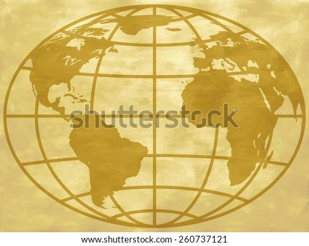 Globe icon on the abstract vintage background. Elements of this image furnished by NASA  - stock vector