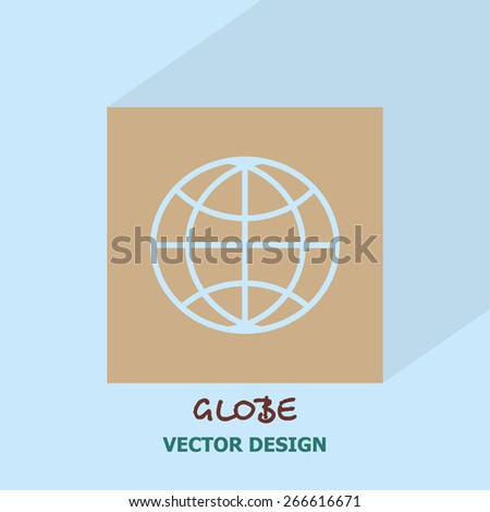 Globe icon. Vector design. - stock vector