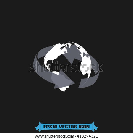 Globe icon vector. Globe illustration, vector graphics eps10. Globe logo. Globe web icon. Globe silhouette. Globe icon app. Globe icon, flat style design. Globe icon. Globe icon object - stock vector