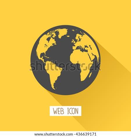 Globe icon,Vector illustration - stock vector