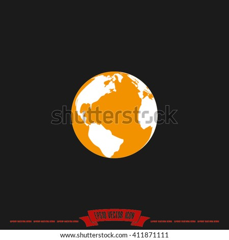Globe Icon Vector. Illustration of a globe, eps10 vector graphics. Globe Icon Picture. Globe Icon EPS10. Globe Icon Image. Globe Icon Graphic. Globe Icon Art. Globe Icon JPG. Globe Icon Web - stock vector