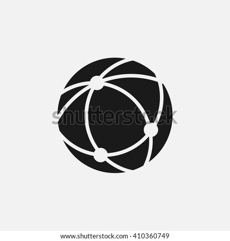 Globe icon vector, solid illustration, pictogram isolated on white - stock vector