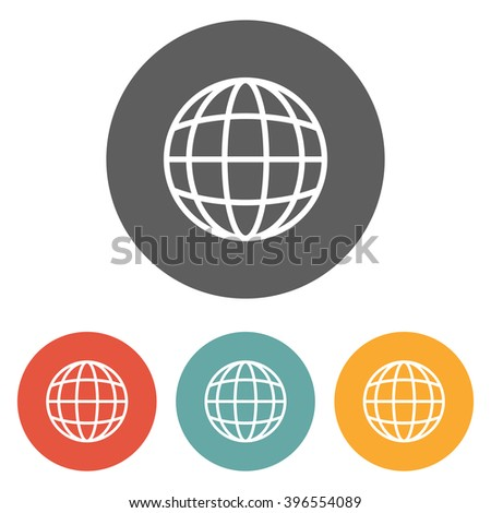 globe icon , world icon , global icon - stock vector