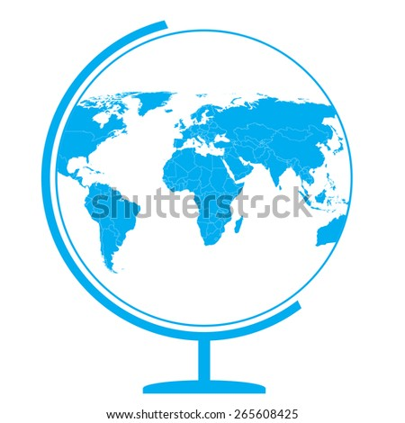 Globe icon - world Map - stock vector