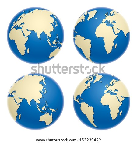 Globe icons, vector illustration - stock vector