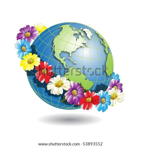 globe in wreath