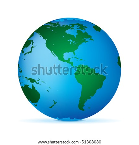 Globe Isolated on White Background. Vector.