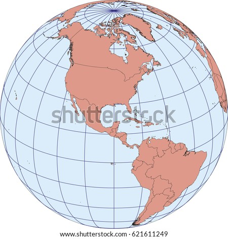 Europe africa map europe africa russia vectores en stock 357416996 globe map centered on north america ortographic projection with graticule elements of this image gumiabroncs Image collections