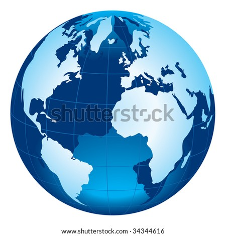 Globe of the World - stock vector