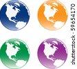 Globe of the World over white background - stock vector