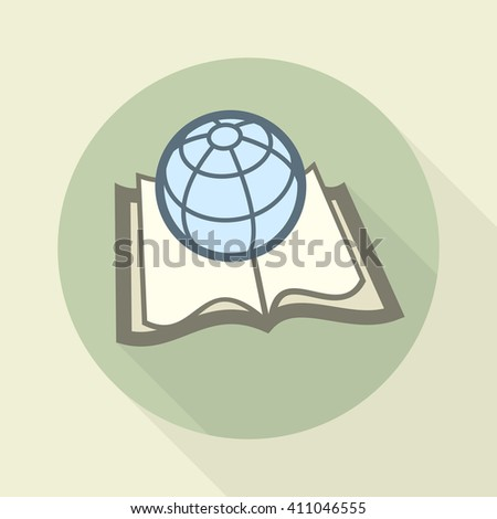 Globe on book. Science concept. Vector illustration. illustration - stock vector