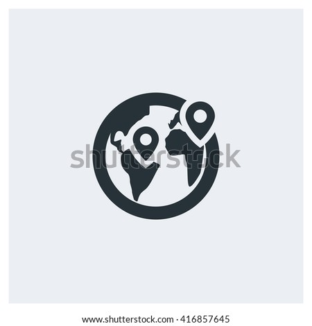 Globe pin Icon, Globe pin Icon Eps10, Globe pin Icon Vector, Globe pin Icon Eps, Globe pin Icon Jpg, Globe pin Icon Picture, Globe pin Icon Flat, Globe pin Icon App, Globe pin Icon Web - stock vector