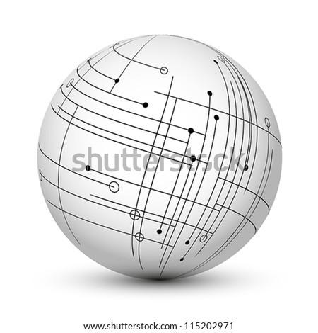 globe plan. globe plan cncept. - stock vector