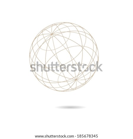 Globe shaped vector diagram - stock vector