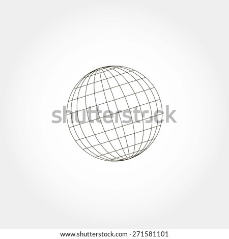 globe sphere, vector illustration - stock vector