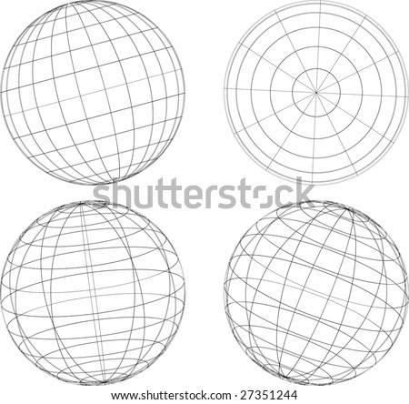 globe spheres - stock vector