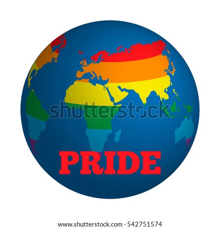 Globe stylized world rainbow gaypride equality stock vector 2018 globe stylized world with rainbow gay pride equality culture symbol flyer t gumiabroncs Images