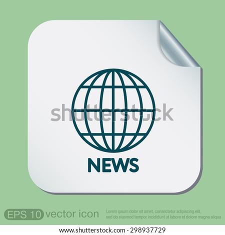 Globe Symbol News Symbol News Icon Stock Vector 277715429 Shutterstock