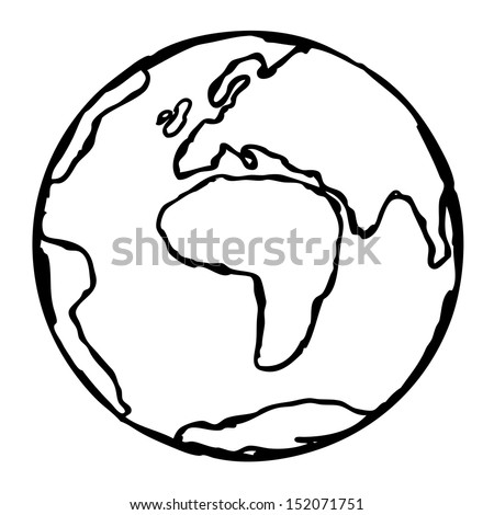 Globe Vector Doodle Planet Earth - stock vector