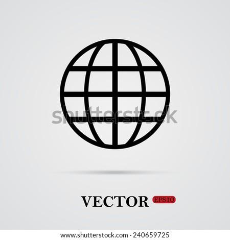 Globe , vector, EPS 10 - stock vector