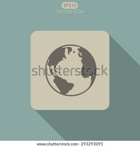 Globe vector icon. - stock vector