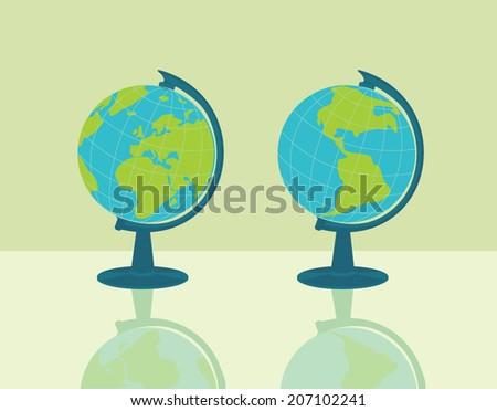 globe, vector illustration - stock vector