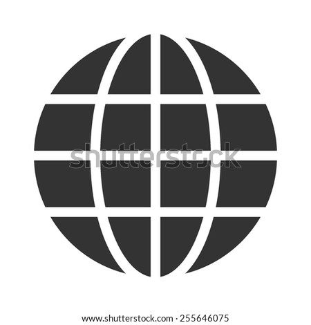Globe vector image to be used in web applications, mobile applications and print media.