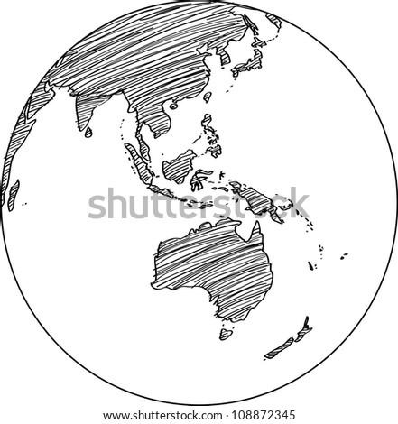 Globe Vector line Illustrator, EPS 10. - stock vector